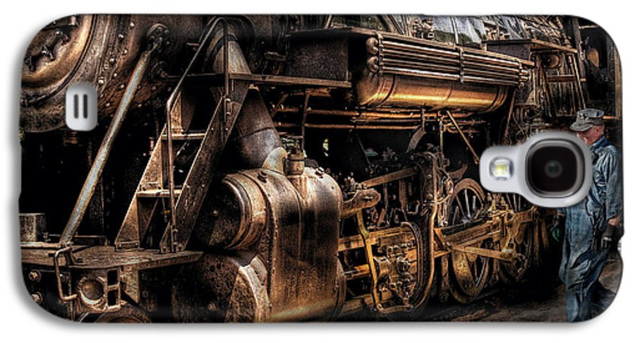 Savad Galaxy S4 Case featuring the photograph Train - Engine - Now Boarding by Mike Savad