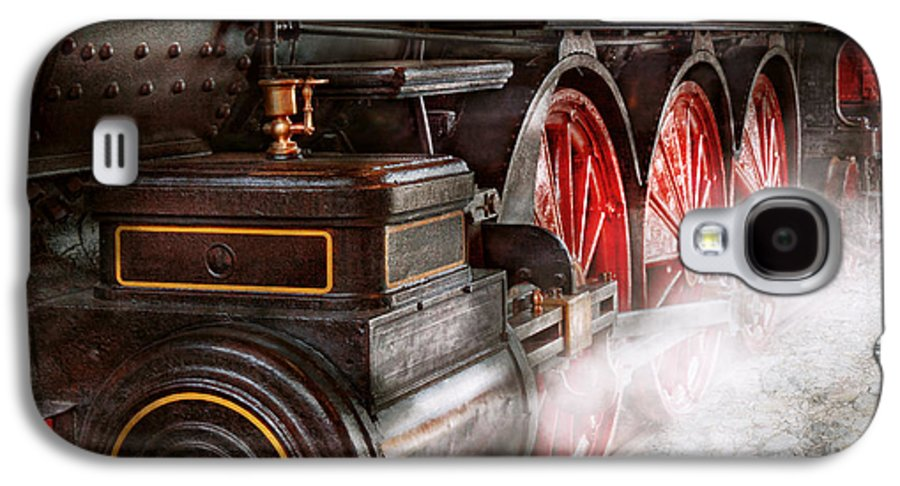 Savad Galaxy S4 Case featuring the photograph Train - Let Off Some Steam by Mike Savad