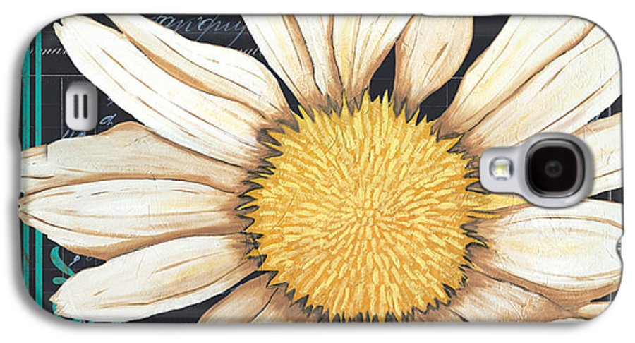 Daisy Galaxy S4 Case featuring the painting Tranquil Daisy 2 by Debbie DeWitt