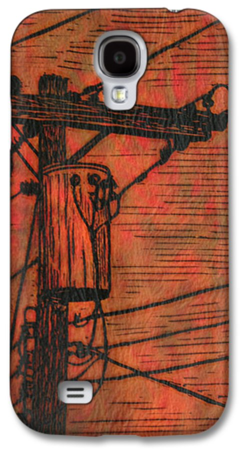 Power Galaxy S4 Case featuring the drawing Transformer by William Cauthern