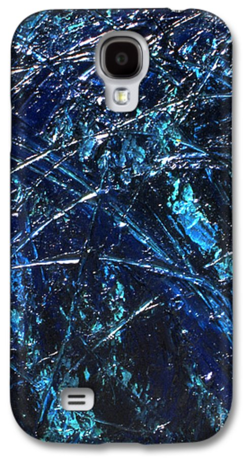 Abstract Galaxy S4 Case featuring the painting Transitions I by Dean Triolo