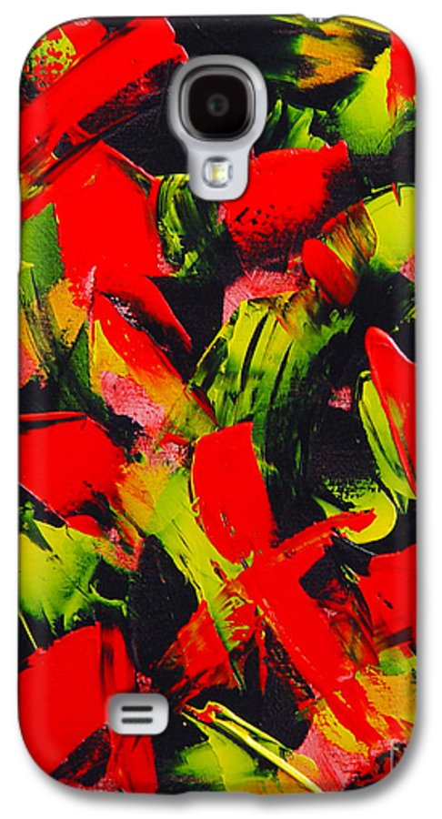 Abstract Galaxy S4 Case featuring the painting Transitions IIi by Dean Triolo
