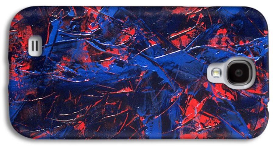 Abstract Galaxy S4 Case featuring the painting Transitions Iv by Dean Triolo