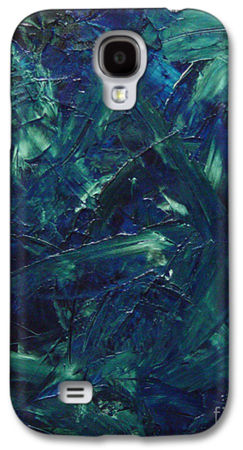 Abstract Galaxy S4 Case featuring the painting Transtions Xi by Dean Triolo