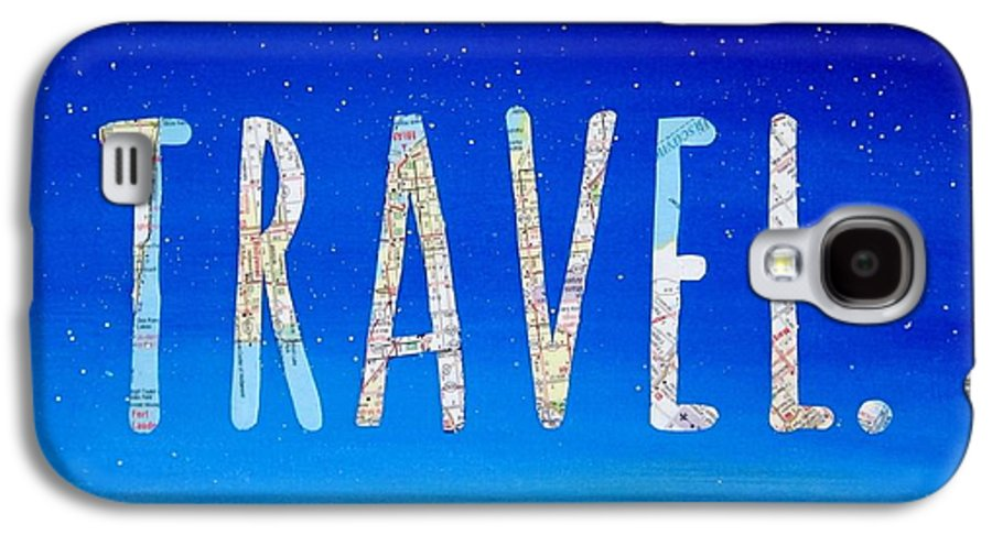 Travel Galaxy S4 Case featuring the mixed media Travel Word Art by Michelle Eshleman