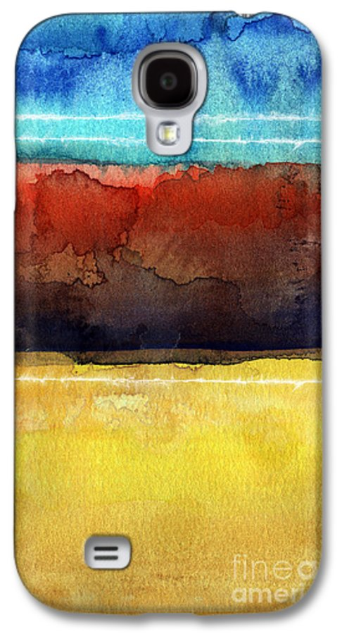 Abstract Galaxy S4 Case featuring the painting Traveling North by Linda Woods
