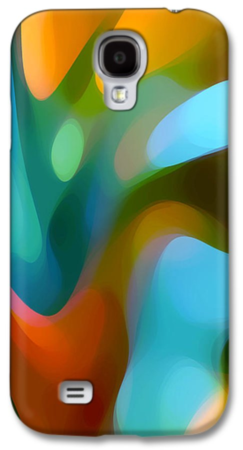 Abstract Galaxy S4 Case featuring the painting Tree Light 3 by Amy Vangsgard