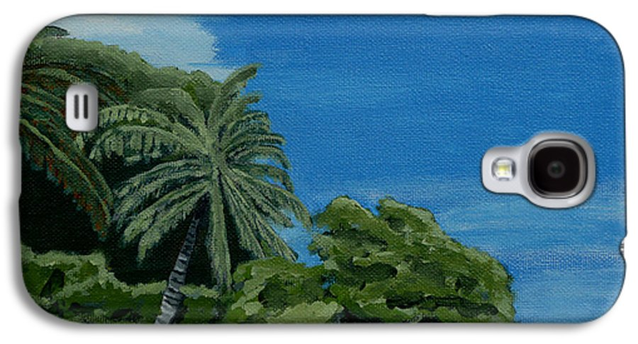 Beach Galaxy S4 Case featuring the painting Tropical Beach by Anthony Dunphy