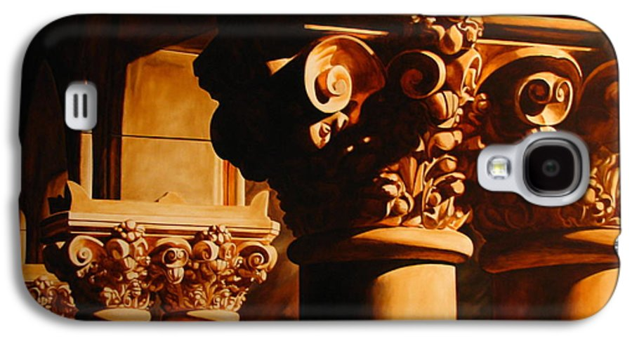 Corinthian Columns Galaxy S4 Case featuring the painting Turn Of The Century by Keith Gantos