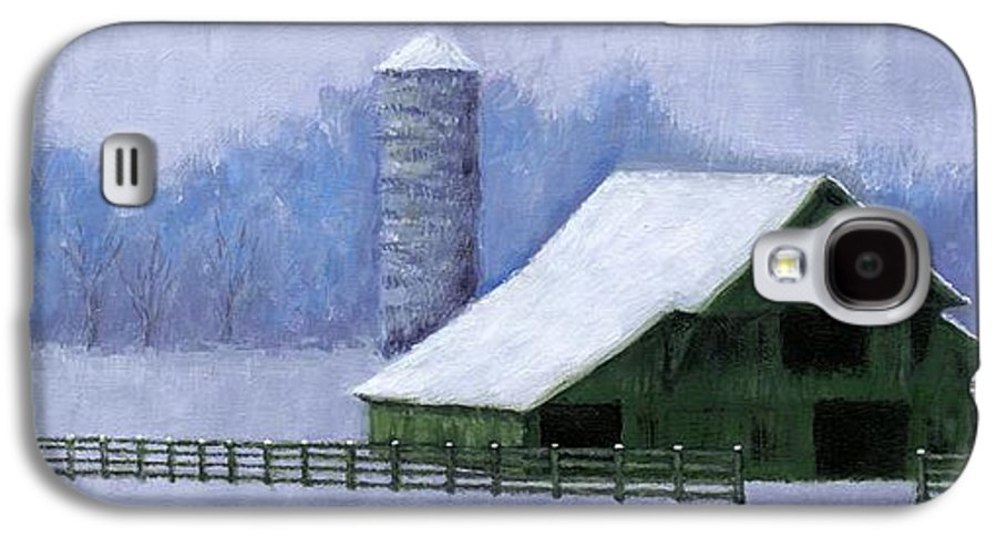 Barn Galaxy S4 Case featuring the painting Turner Barn In Brentwood by Janet King