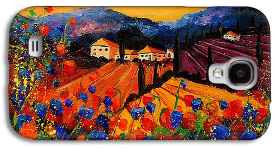 Poppies Galaxy S4 Case featuring the painting Tuscany Poppies by Pol Ledent