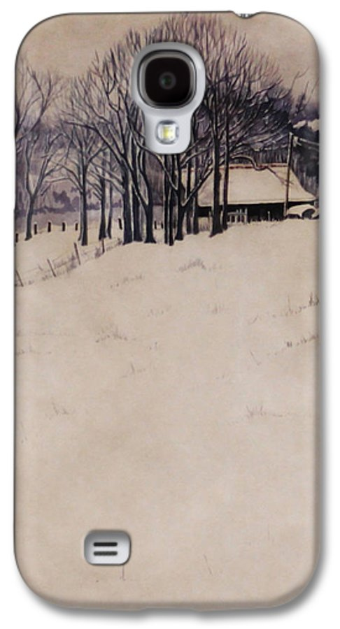 Lanscape Galaxy S4 Case featuring the painting Twenty Two Inches by Barbara Hester