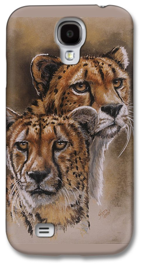 Cheetah Galaxy S4 Case featuring the pastel Twins by Barbara Keith