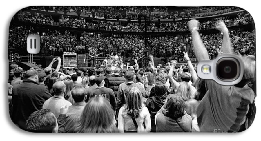 Bono Galaxy S4 Case featuring the photograph U2-crowd-gp13 by Timothy Bischoff
