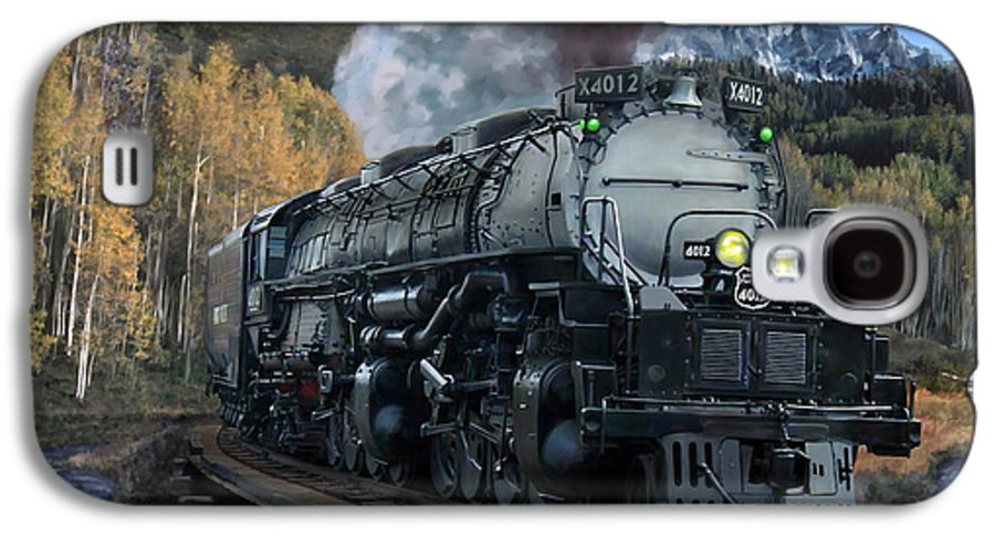 Railroad Galaxy S4 Case featuring the painting Union Pacific 4-8-8-4 Big Boy by Mark Karvon