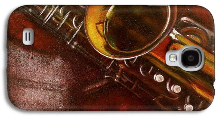 Still Life Galaxy S4 Case featuring the painting Unprotected Sax by Sean Connolly