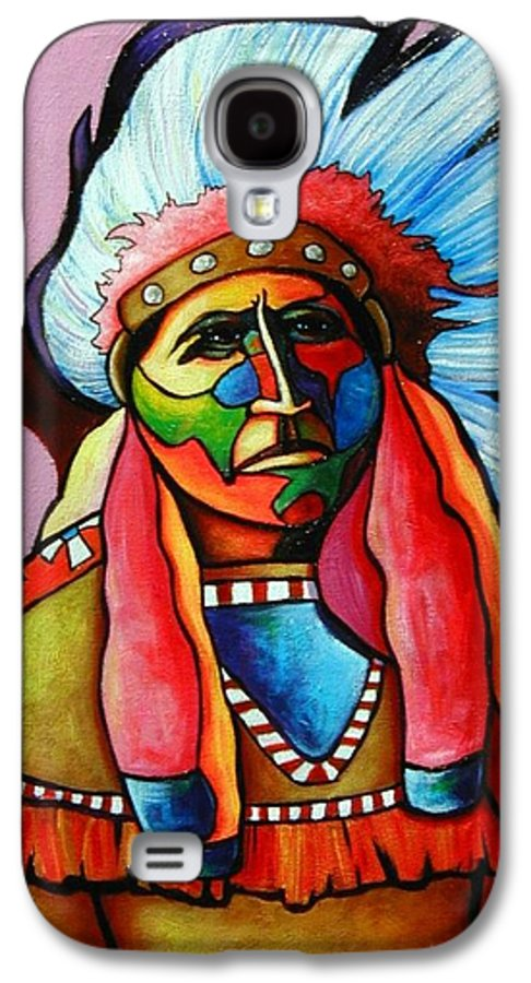 American Indian Galaxy S4 Case featuring the painting Until I'm Breathless by Joe Triano