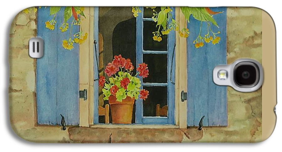 France Galaxy S4 Case featuring the painting Vacation Memory by Mary Ellen Mueller Legault