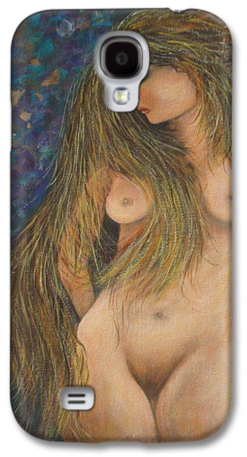 Woman Galaxy S4 Case featuring the painting Valencina by Natalie Holland