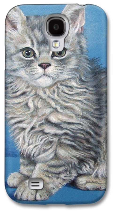 Cat Galaxy S4 Case featuring the drawing Velvet Kitten by Nicole Zeug