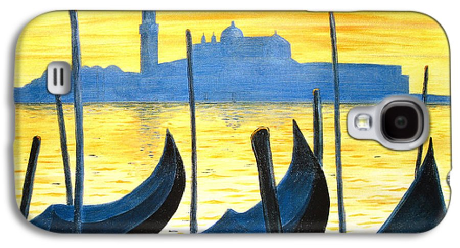 Venice Galaxy S4 Case featuring the painting Venezia Venice Italy by Jerome Stumphauzer