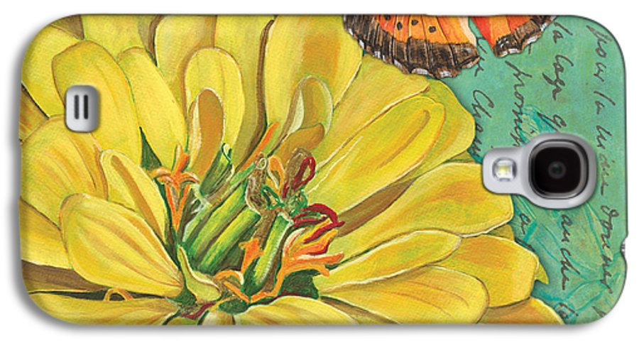 Floral Galaxy S4 Case featuring the painting Verdigris Floral 2 by Debbie DeWitt