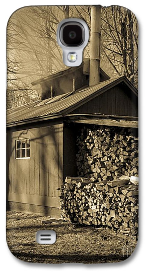 Maple Galaxy S4 Case featuring the photograph Vermont Maple Sugar Shack Circa 1954 by Edward Fielding