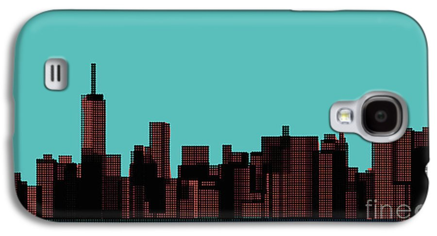 Beauty Galaxy S4 Case featuring the digital art View Of The Manhattan In The Pop Art by Finlandi