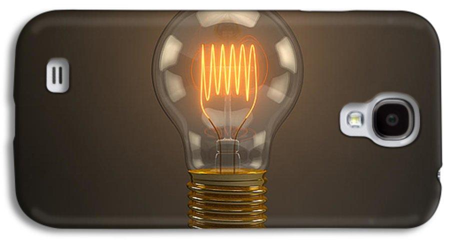 Lightbulb Galaxy S4 Case featuring the digital art Vintage Light Bulb by Scott Norris