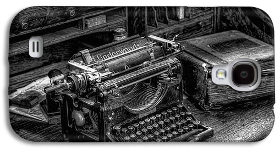 Typewriter Galaxy S4 Case featuring the photograph Vintage Typewriter by Adrian Evans