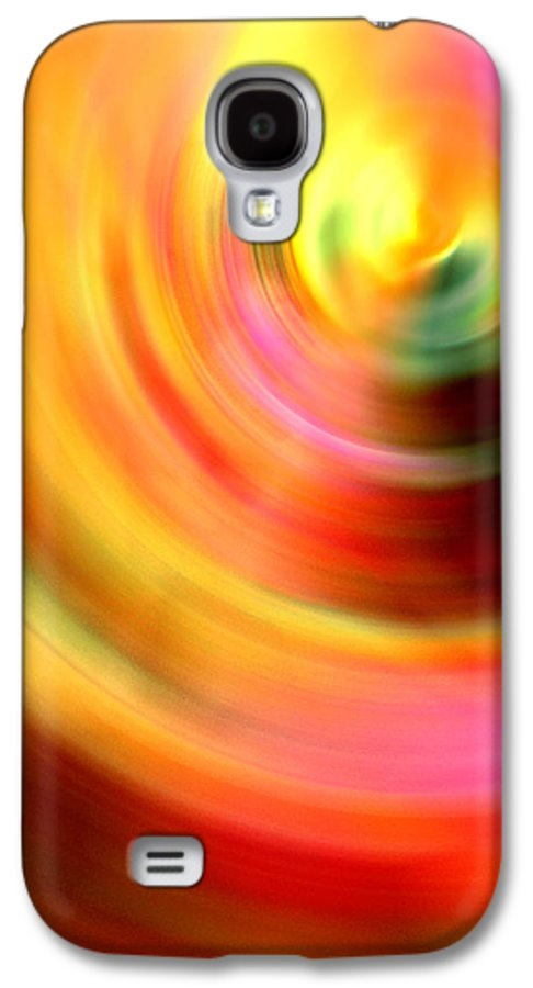 Vinyl Record Color Colorful Abstract Digital Art Expressionism Fantasy Naked Nude Galaxy S4 Case featuring the digital art Vinyl by Steve K