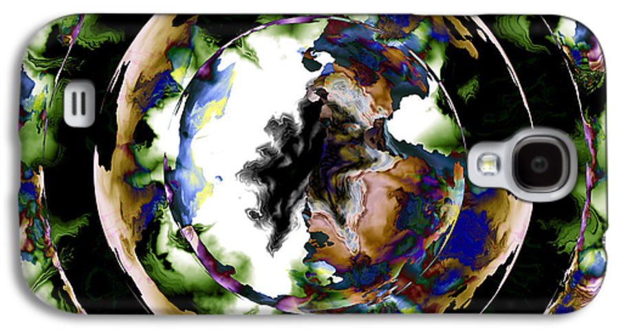 Fractal Art Galaxy S4 Case featuring the digital art Visions Echo In The Crystal Ball by Elizabeth McTaggart