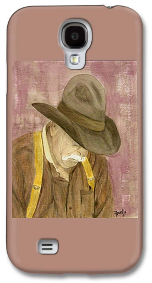 Western Galaxy S4 Case featuring the painting Walter by Regan J Smith