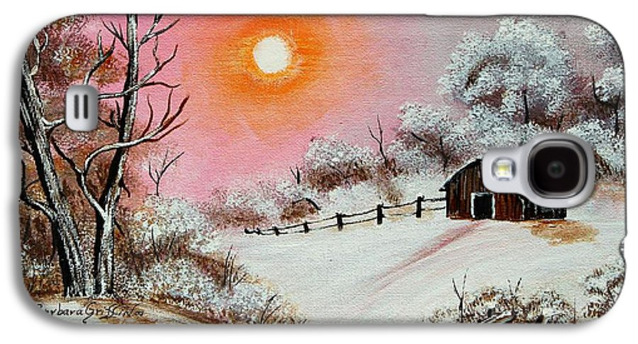Warm Winter Day Galaxy S4 Case featuring the painting Warm Winter Day After Bob Ross by Barbara Griffin