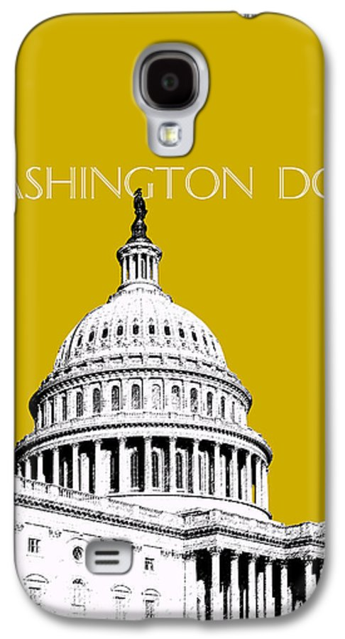 Architecture Galaxy S4 Case featuring the digital art Washington Dc Skyline The Capital Building - Gold by DB Artist