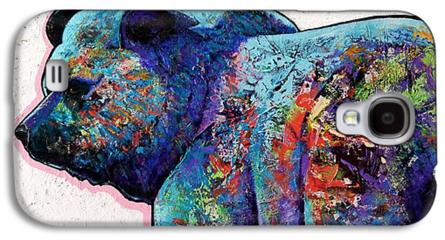 Wildlife Galaxy S4 Case featuring the painting Watchful Eyes - Grizzly Bear by Joe Triano
