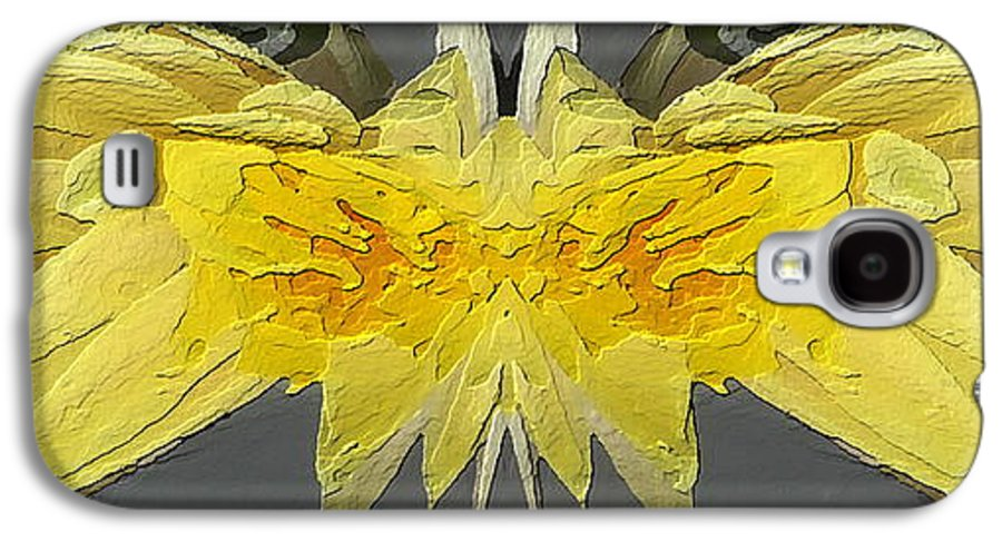 Abstract Galaxy S4 Case featuring the digital art Water Lily Unleashed 4 by Tim Allen