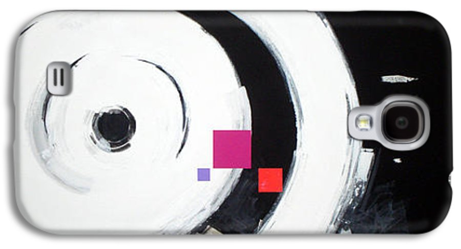 Abstract Galaxy S4 Case featuring the painting Wheel Of Fortune by Jean Pierre Rousselet