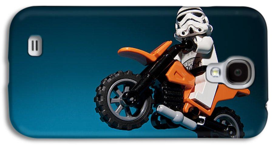 Lego Galaxy S4 Case featuring the photograph Wheelie by Samuel Whitton