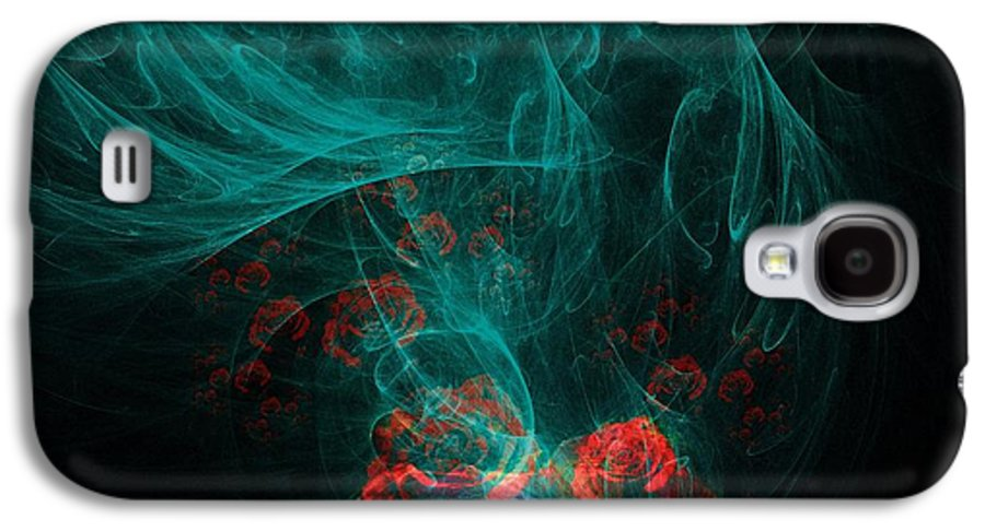 Smoke Galaxy S4 Case featuring the digital art When The Smoke Clears They Bloom by Elizabeth McTaggart
