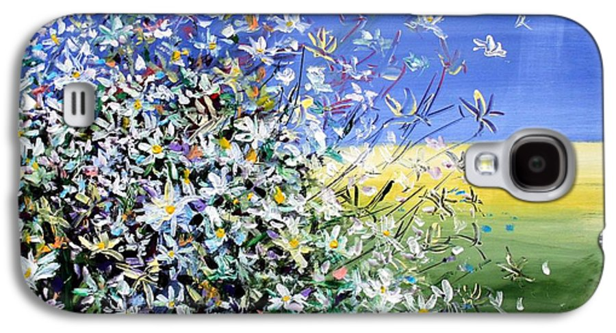 Daisies Galaxy S4 Case featuring the painting Wild Daisies by Mario Zampedroni