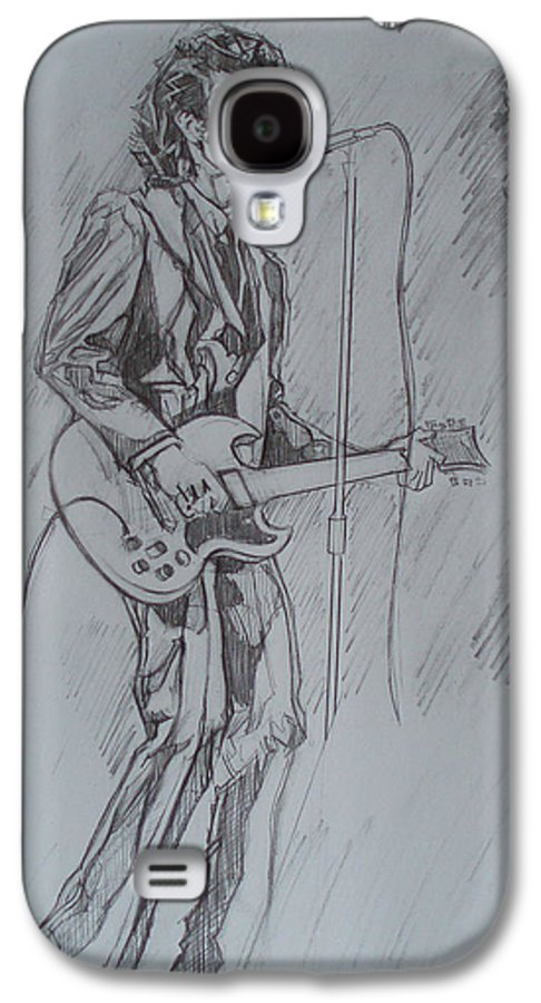 Pencil Galaxy S4 Case featuring the drawing Mink Deville - Steady Drivin' Man by Sean Connolly
