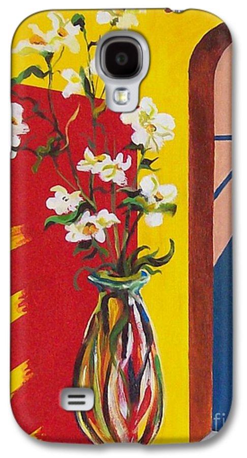 Still Life Galaxy S4 Case featuring the painting Window by Sinisa Saratlic