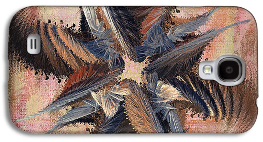 Abstract Galaxy S4 Case featuring the digital art Winds Of Change by Deborah Benoit