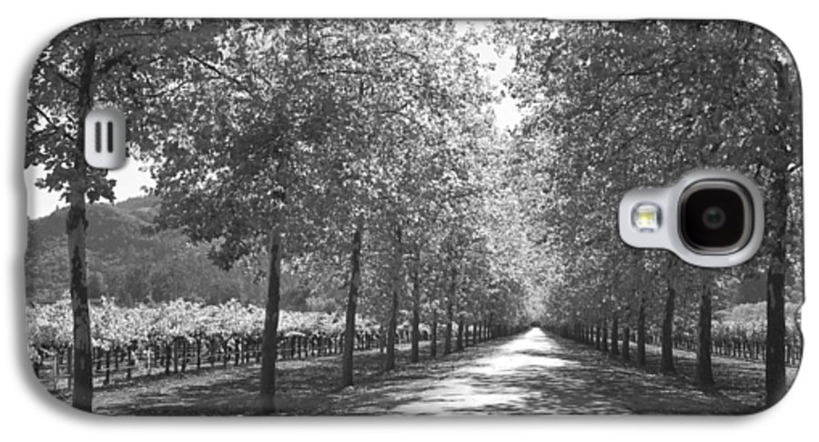 Black And White Galaxy S4 Case featuring the photograph Wine Country Napa Black And White by Suzanne Gaff
