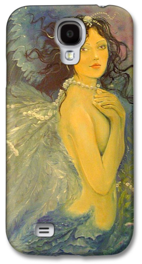 Mermaid Galaxy S4 Case featuring the painting Wings by Victoria Maine