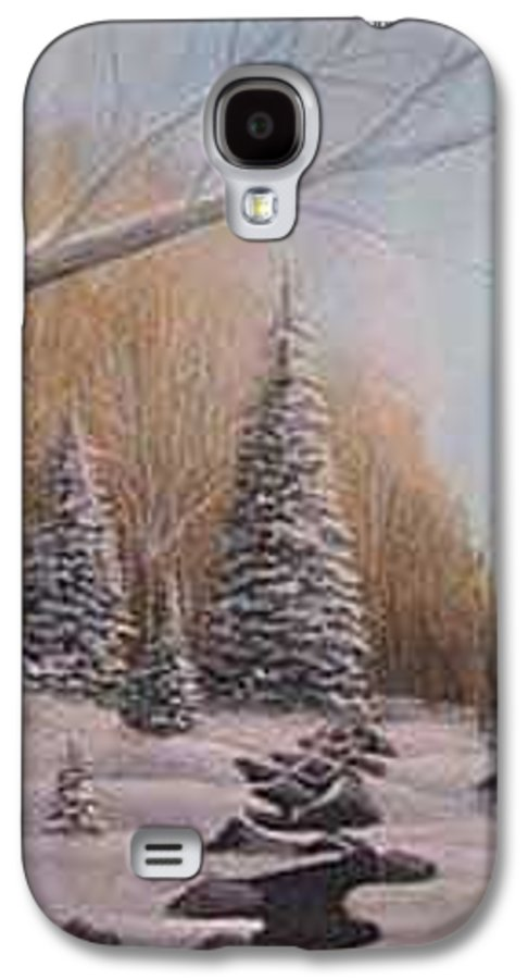 Rick Huotari Galaxy S4 Case featuring the painting Winter Morning by Rick Huotari