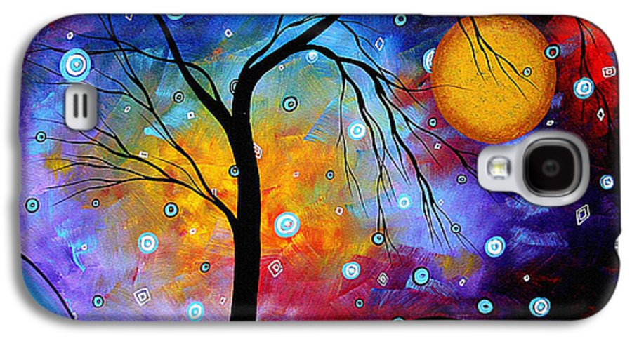 Abstract Galaxy S4 Case featuring the painting Winter Sparkle Original Madart Painting by Megan Duncanson