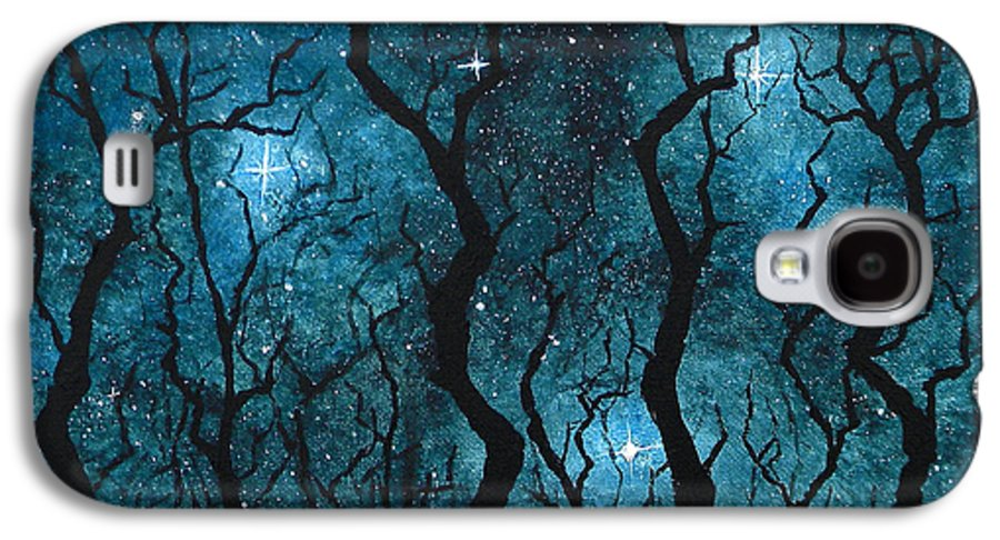 Tree Galaxy S4 Case featuring the painting Winter's Night by Sabrina Zbasnik