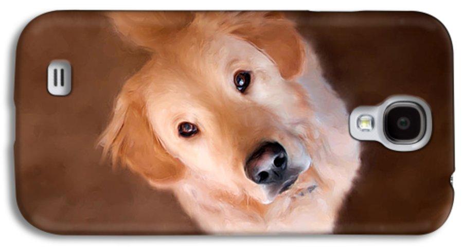 Golden Retriever Galaxy S4 Case featuring the painting Wishful Thinking by Christina Rollo